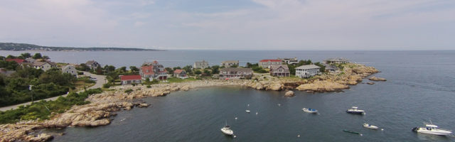 Aerial view of Gap Head, Rockport, MA