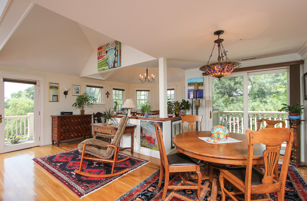 Kitchen Dining Entry Area and Deck at 6 Ober Street Beverly, MA - Unit 3
