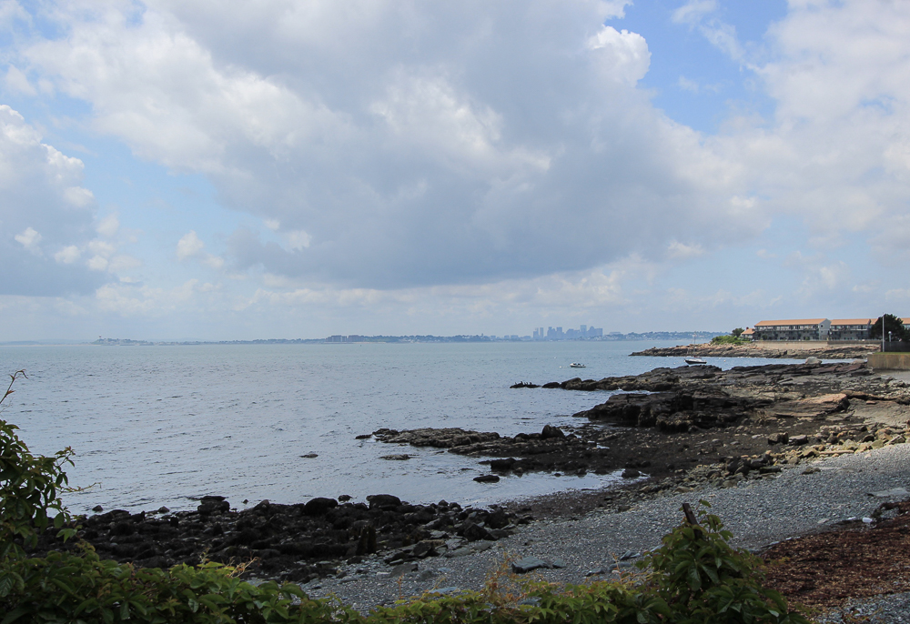 Bailey's Hill Park Nahant, MA Boston Skyline