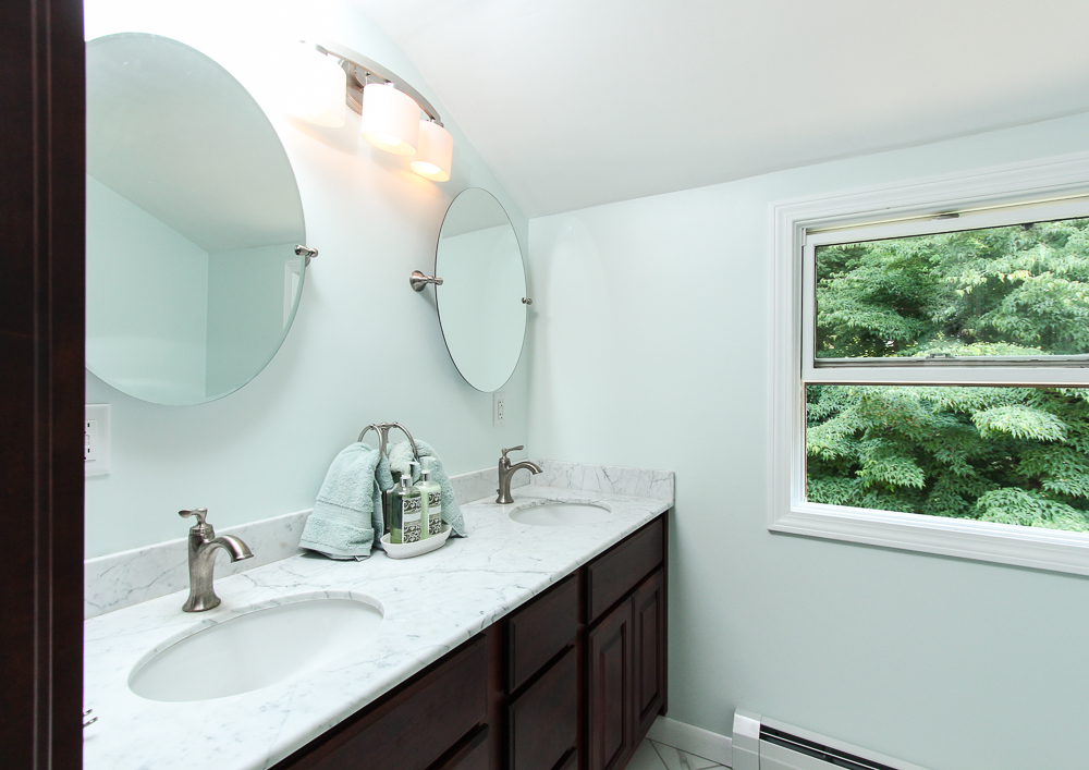The master bathroom at 28 Juniper Street in Wenham, MA
