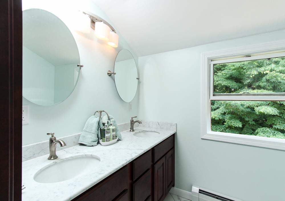 The master bathroom at 28 Juniper Street in Wenham, MA