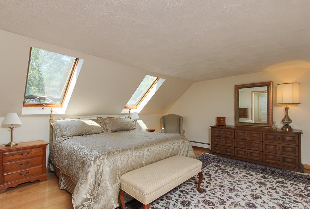 The master bedroom at 28 Juniper Street in Wenham, MA