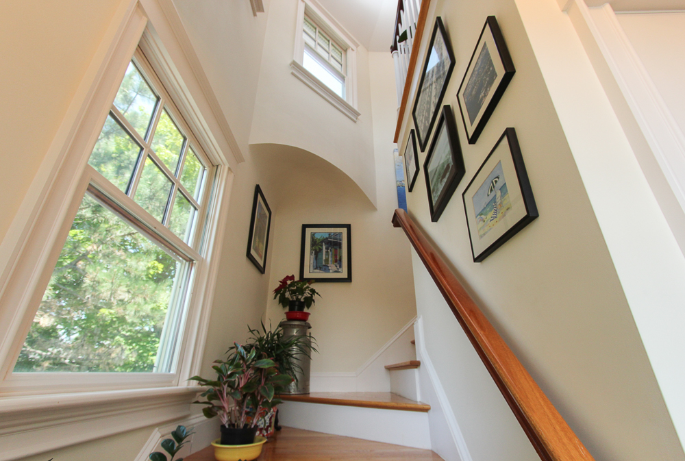 Stairwell at 6 Ober Street Unit 3 in Beverly, MA
