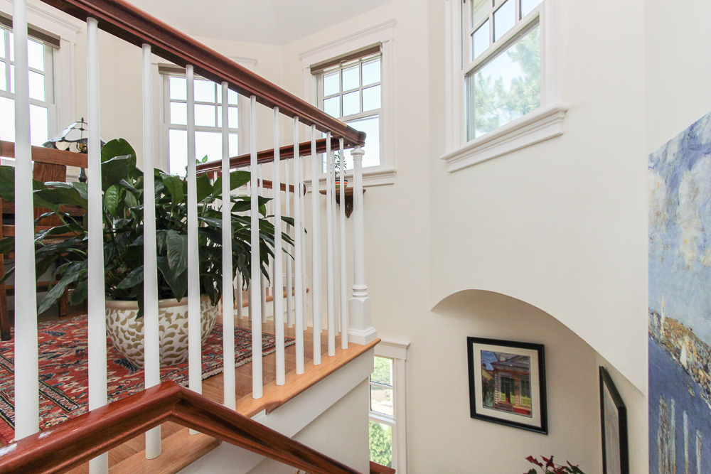 Top of the stairway at 6 Ober Street Unit 6 in Beverly, MA