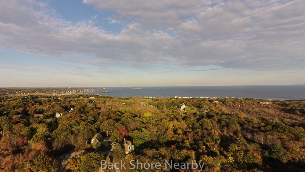 Elevated View of the Back Shore 24 Marble Road Gloucester, MA