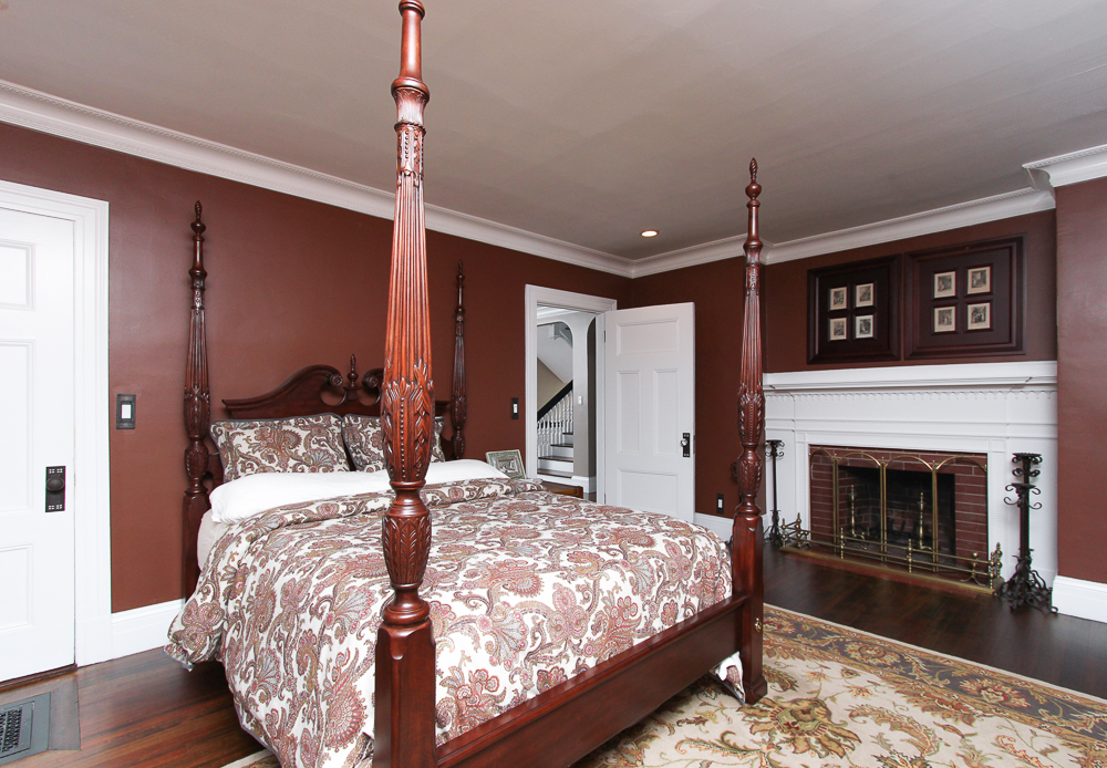 Master bedroom fireplace at 15 Palmer Avenue Swampscott, MA