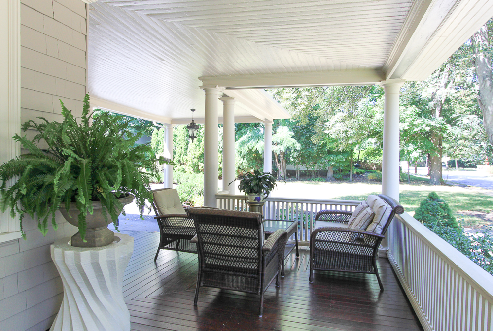 Porch seating at 15 Palmer Avenue Swampscott, MA