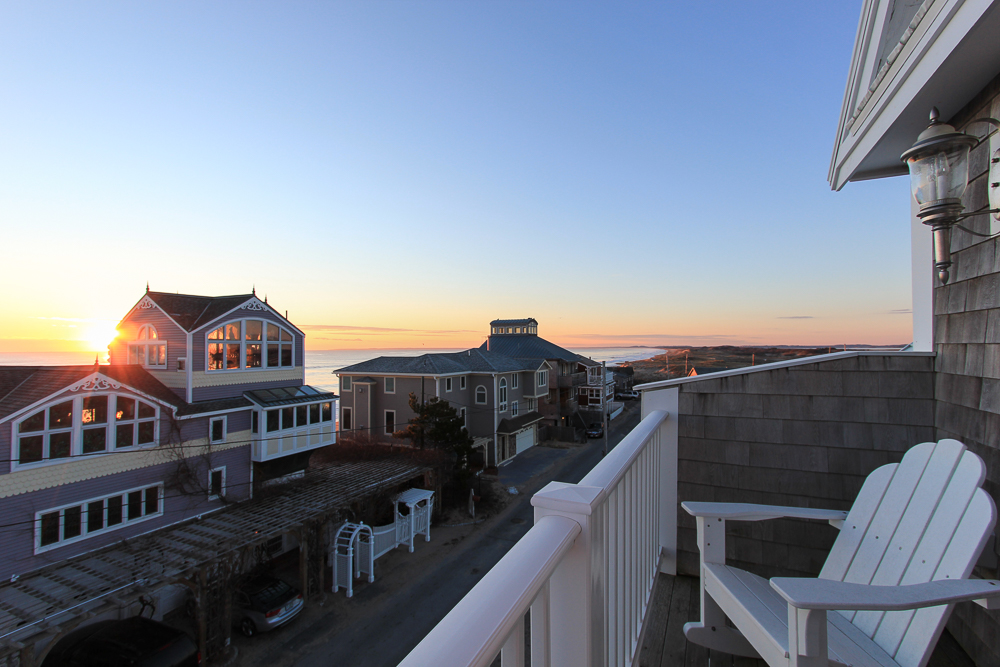 Sunrise from Master Bedroom Deck Ocean Side 15 Fordham Way Newbury, MA