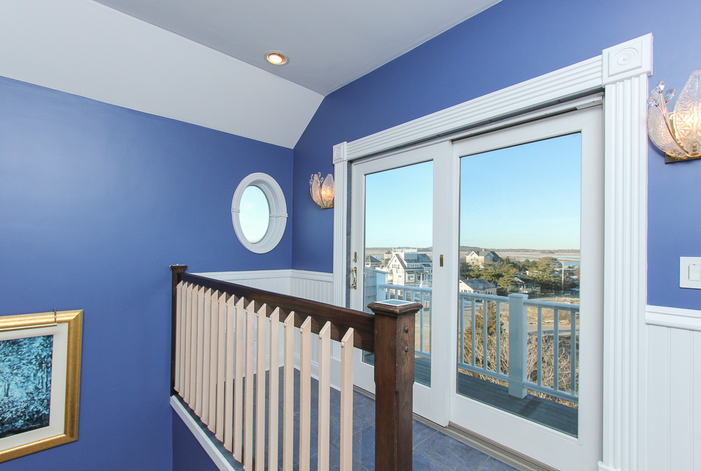 Master bedroom balcony looking towrads Parker River 15 Fordham Way Newbury, MA
