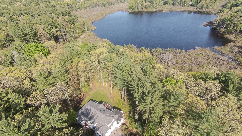 Aerial Beaver Pond from 40 Beaver Pond Road Beverly, MA