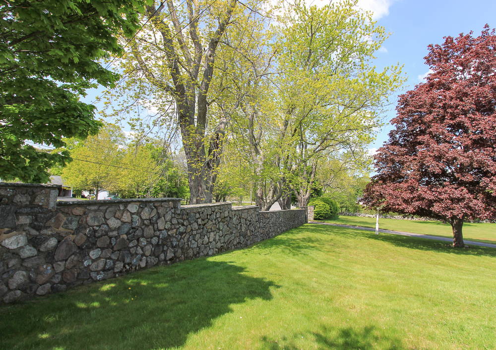 Stone Wall in Front 104 Essex Road Ipswich, MA