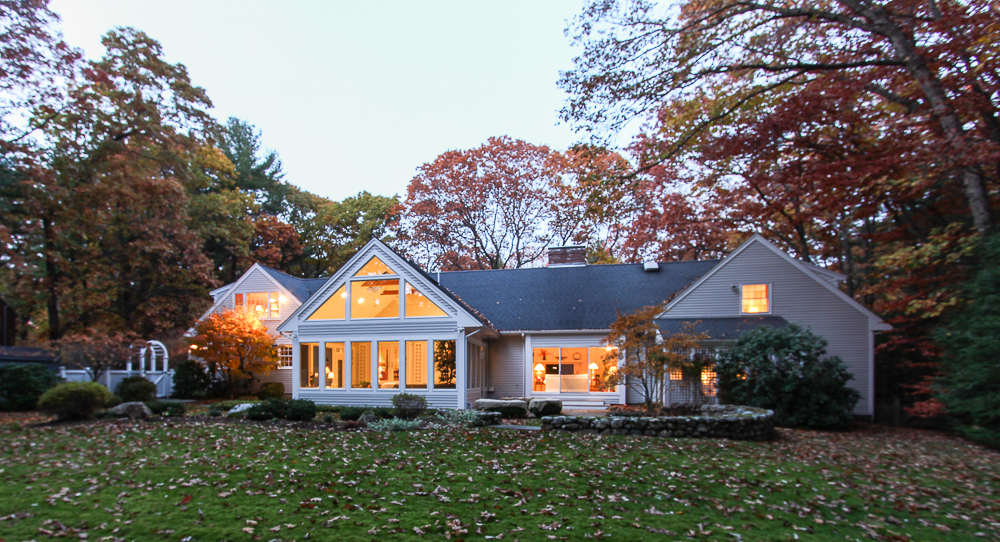 Twilight at 15 Morgan Street in Wenham