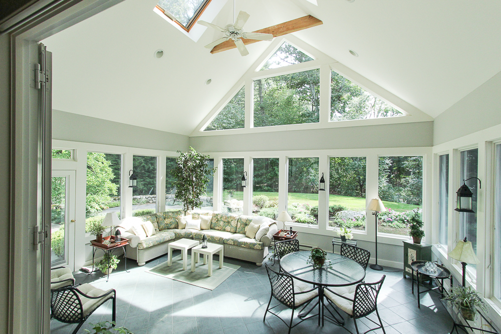 Sun Room from the kitchen at 15 Morgan Street in Wenham