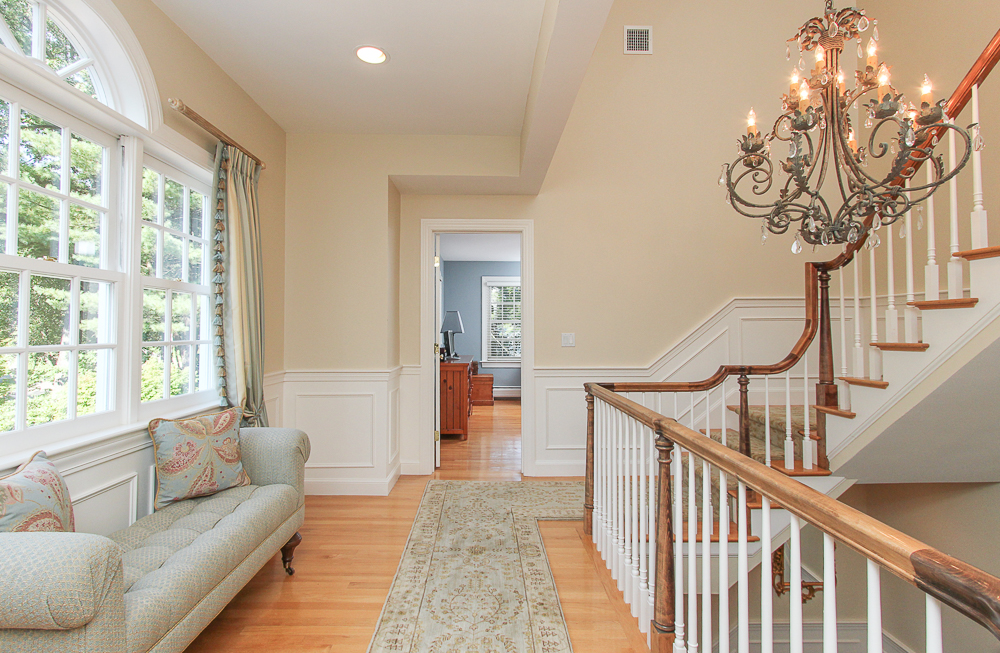 second floor hallway with stairway to third floor 33 Old Planters Road Beverly Massachusetts