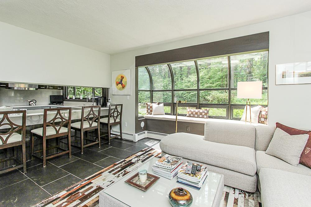 Family room and kitchen 27 Miles River Road Hamilton Massachusetts
