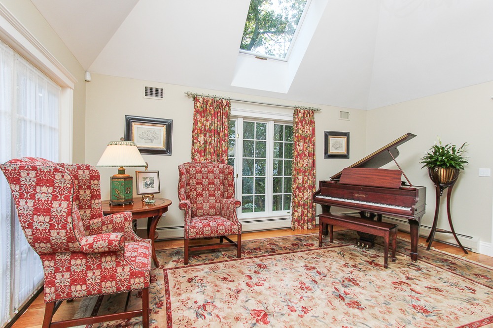 Music room with skylight 33 Old Planters Road Beverly Massachusetts