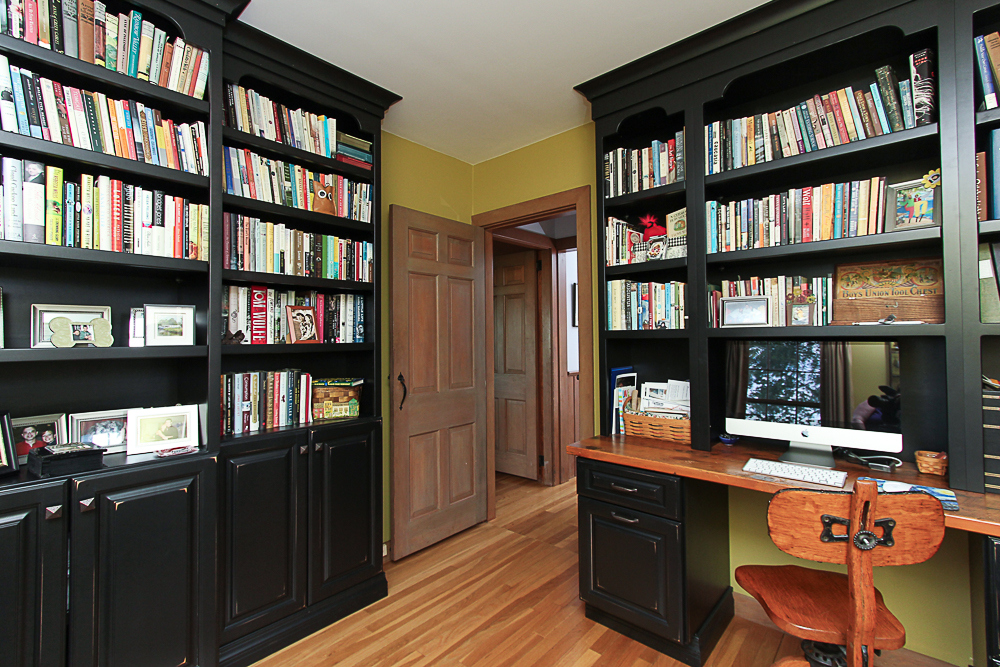 Office with book cases 4 Lanes Road Essex Massachusetts