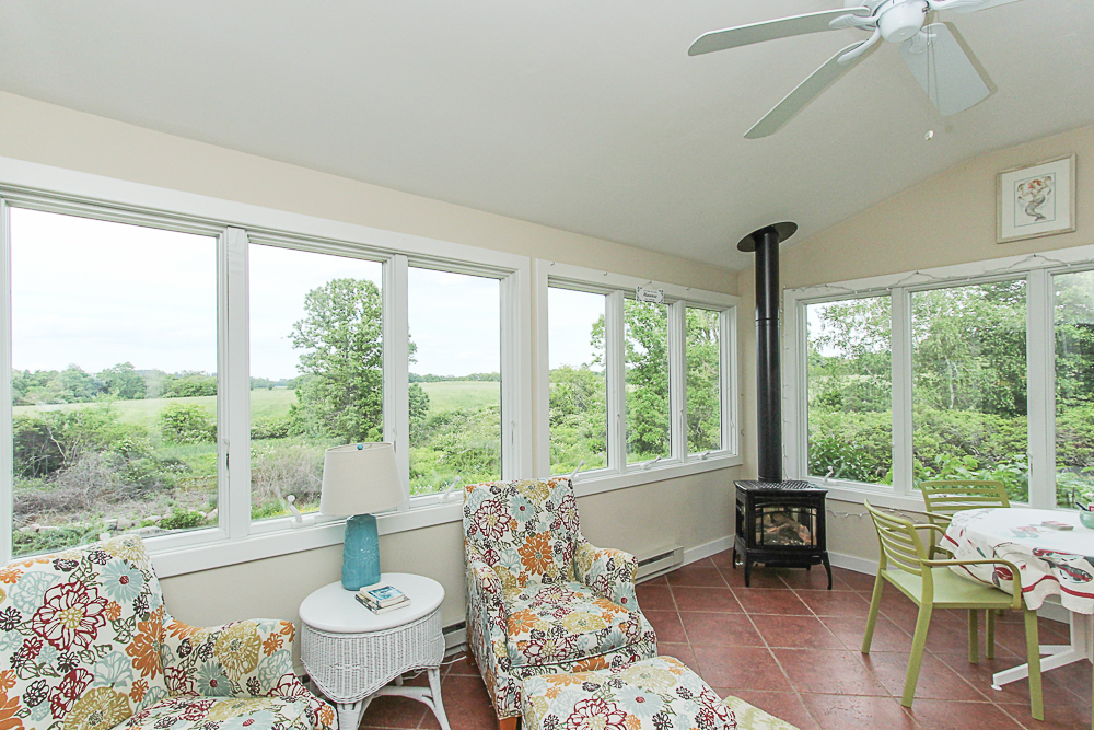Tiled sun room with view 4 Lanes Road Essex Massachusetts