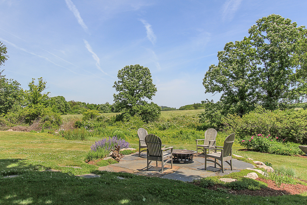View with patio and firepit 4 Lanes Road Essex Massachusetts