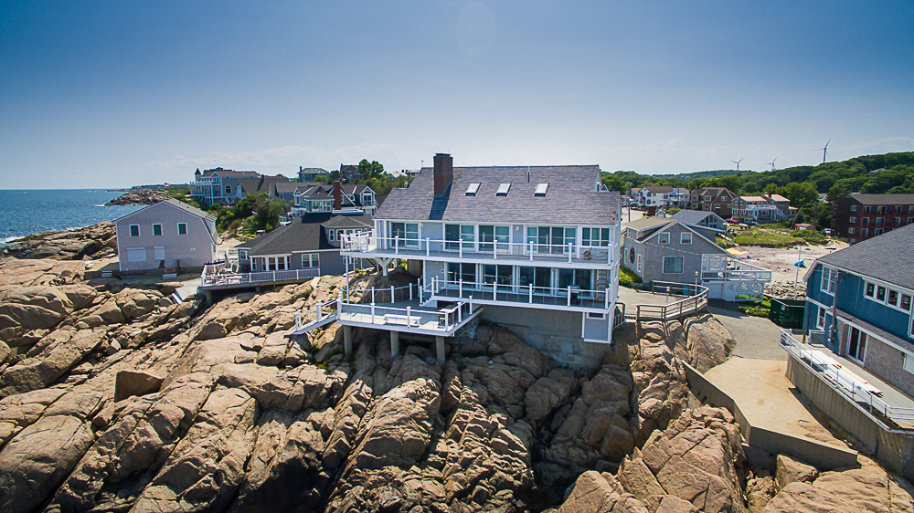 Aerial Waterside of 20 High Rock Terrace Gloucester Massachusetts