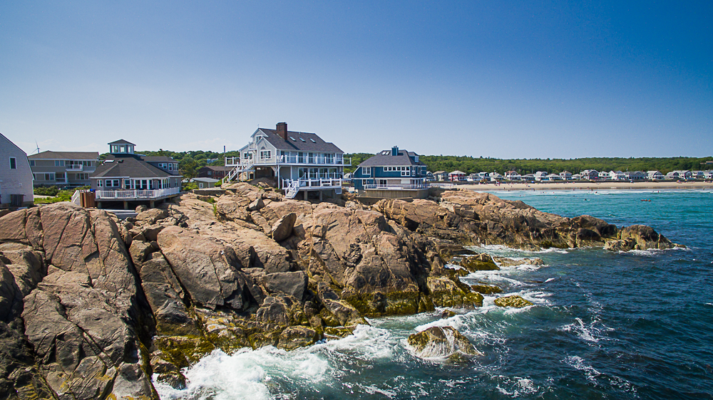 Aerial View and rocks at 20 High Rock Terrace Gloucester Massachusetts