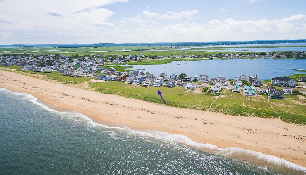 Plum Island Aerial Beach house and basin 92 Northern Blvd Newbury Massachusetts