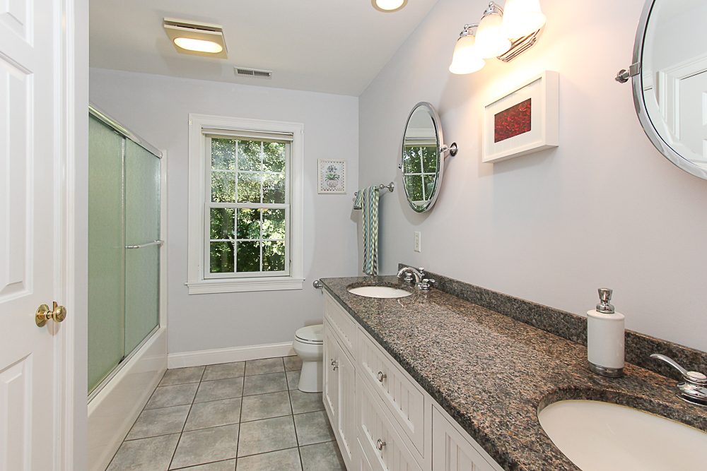 Bathroom with double sinks 54 Essesx Street Hamilton Massachusetts