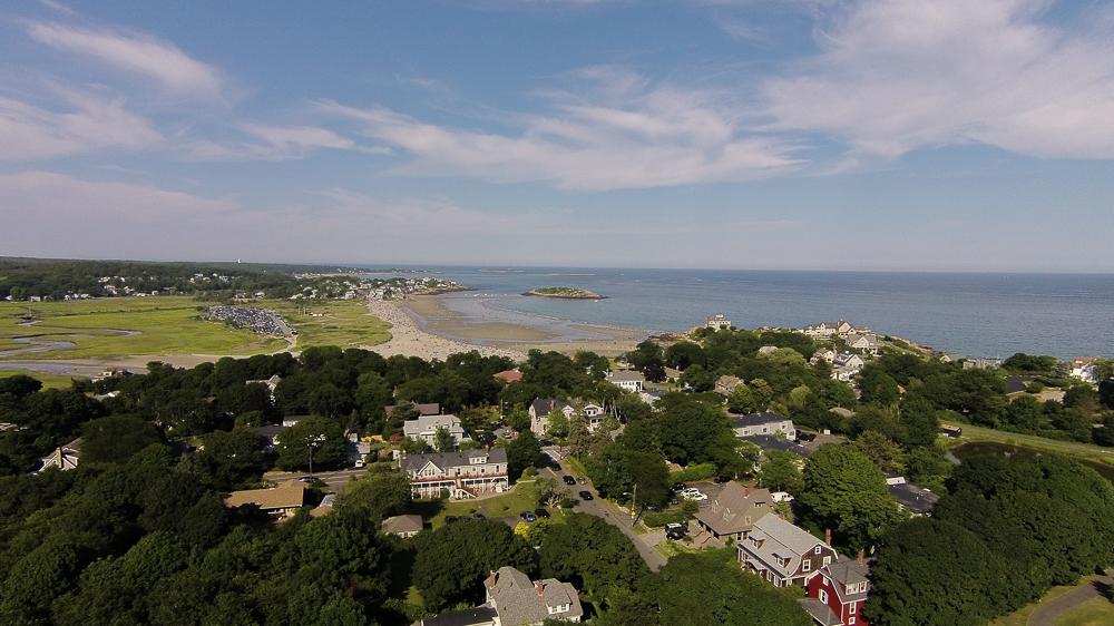 Aerial - Good Harbor Beach Gloucester, Massachusetts