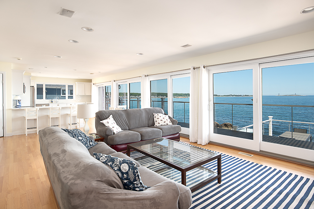 Lower level Living room 20 High Rock Terrace Gloucester Massachusetts