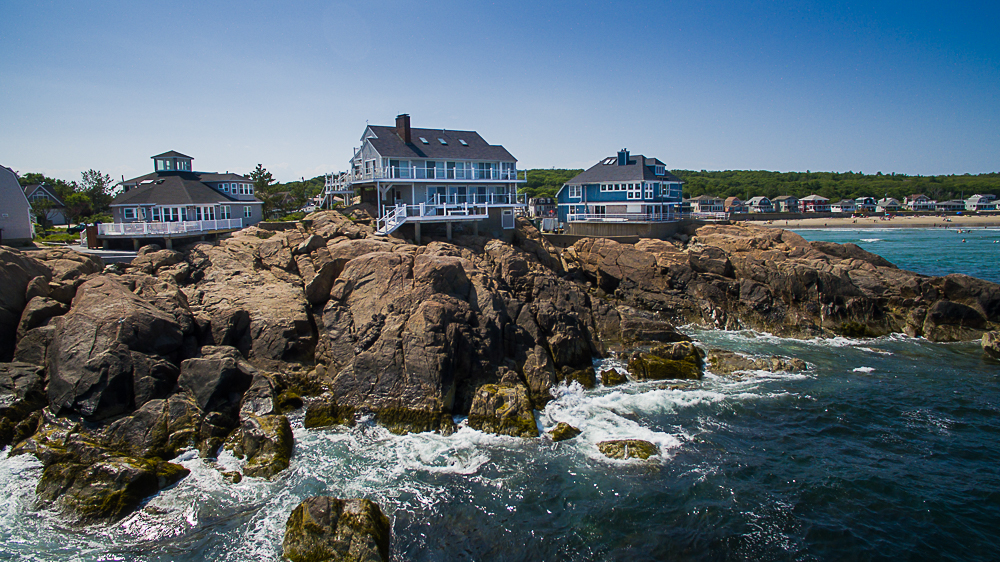 Aerial from the water at 20 High Rock Terrace Gloucester Massachusetts