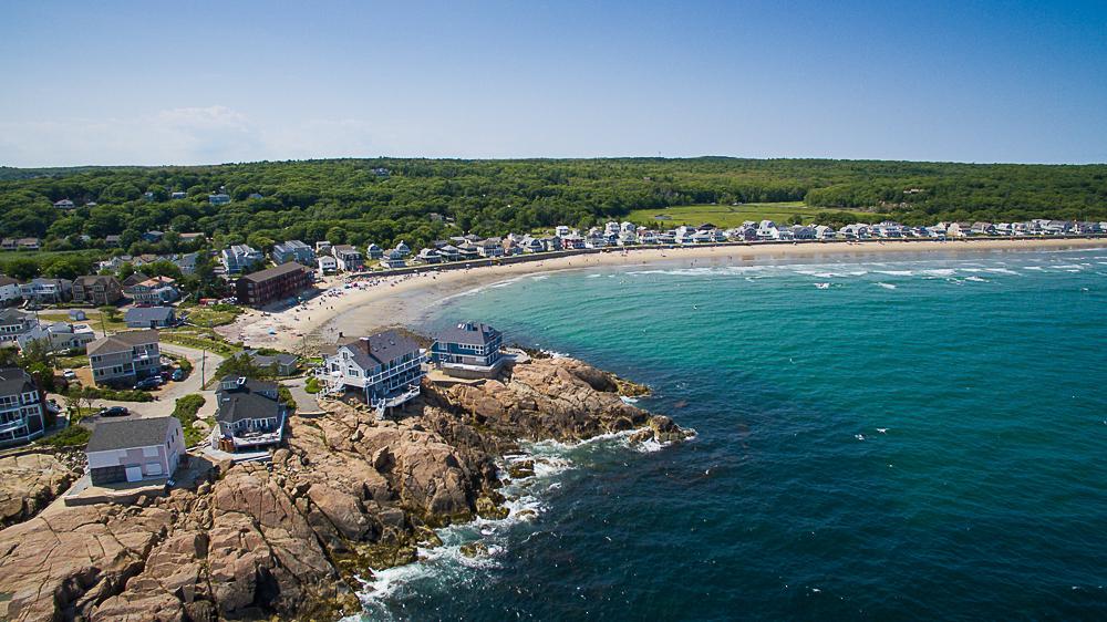 Aerial Long Beach and 20 High Rock Terrace Gloucester Massachusetts
