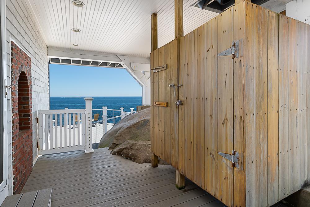 Outdoor shower 20 High Rock Terrace Gloucester Massachusetts