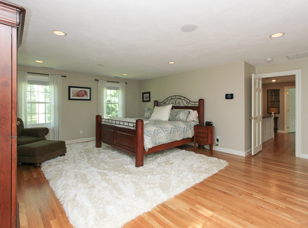 Main bedroom with hardwood floors and out towards hallway 48 Boren Lane Boxford Massachusetts