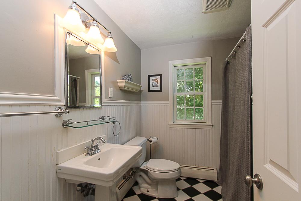 Full bath on the first floor 43 Homestead Circle Hamilton MA
