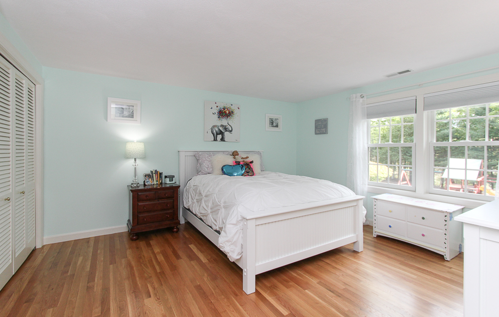 Bedroom with hardwood floors at 48 Boren Lane Boxford Massachusetts