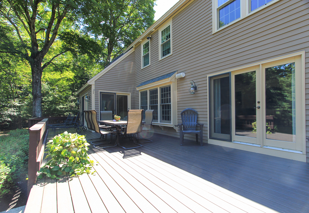 Back Deck at 48 Boren Lane Boxford Massachusetts