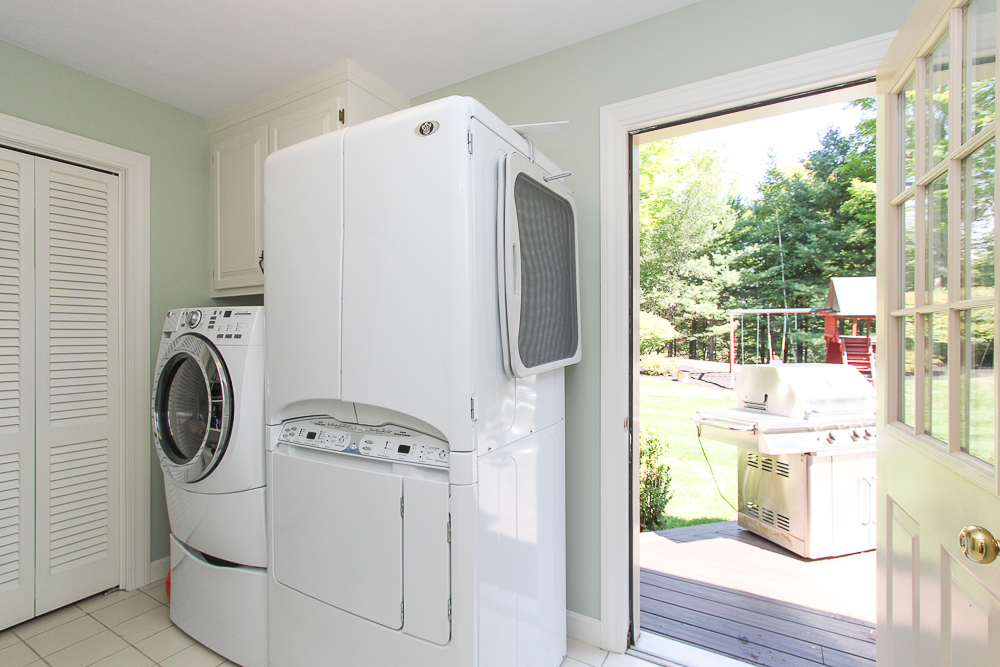Laundry Room with open door to the deck and yard 48 Boren Lane Boxford Massachusetts