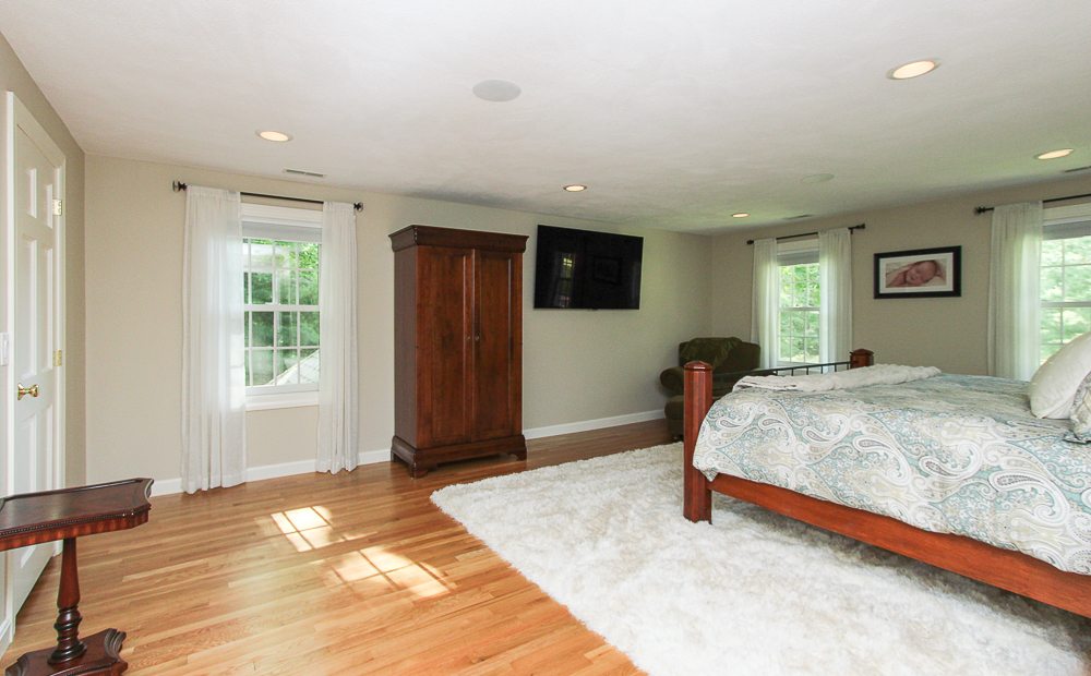 Main bedroom with hardwood floors 48 Boren Lane Boxford Massachusetts