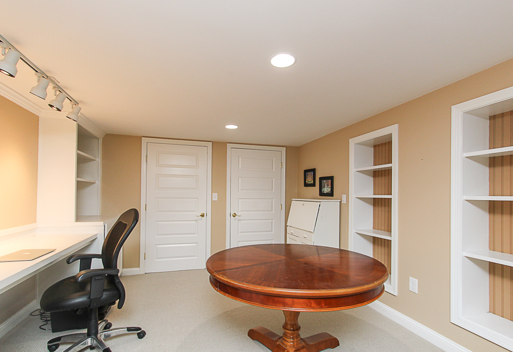 Office in lowere level with built-ins 43 Homestead Circle Hamilton MA