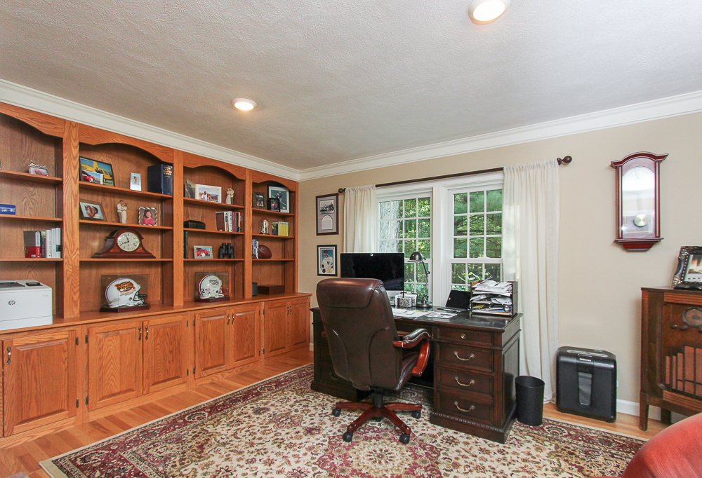 Office with built-in bookcases 48 Boren Lane Boxford Massachusetts