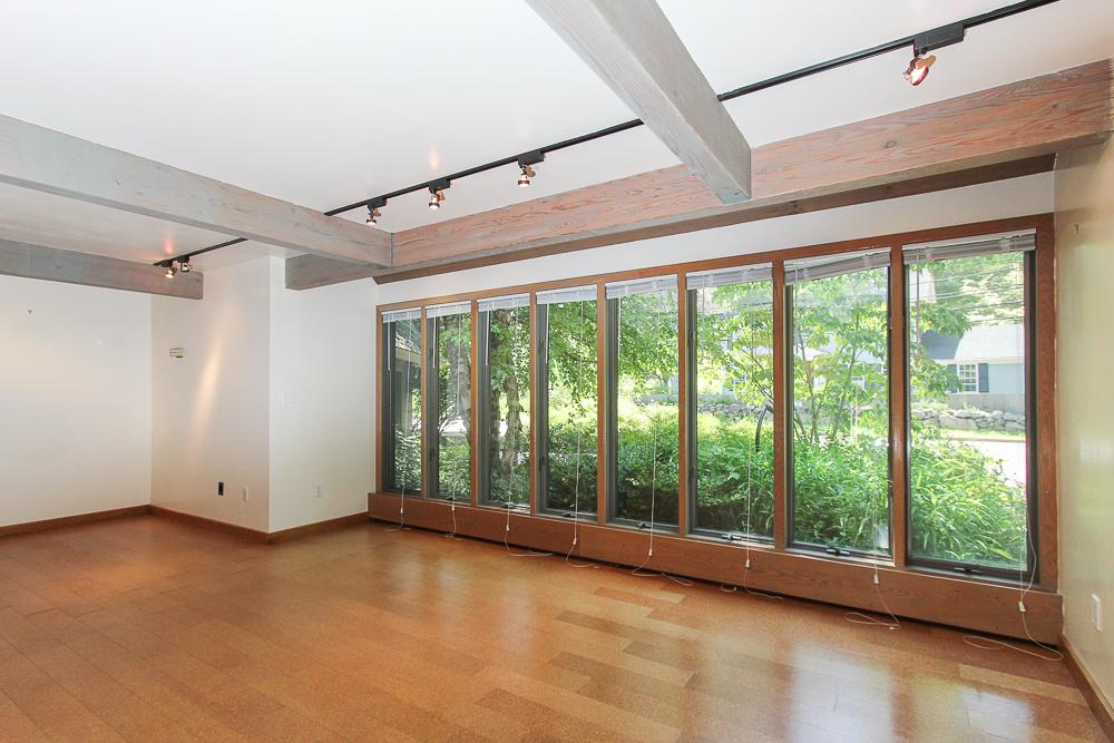 Living room with front windows 557 Bay Road Hamilton, Massachusetts