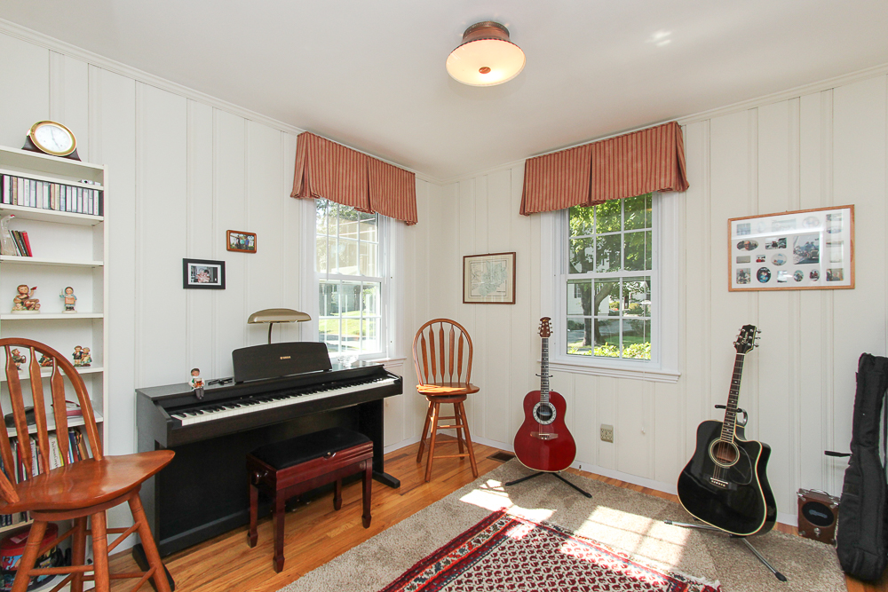Bedroom set up as music room 15 Sylvan Road Beverly Massachusetts