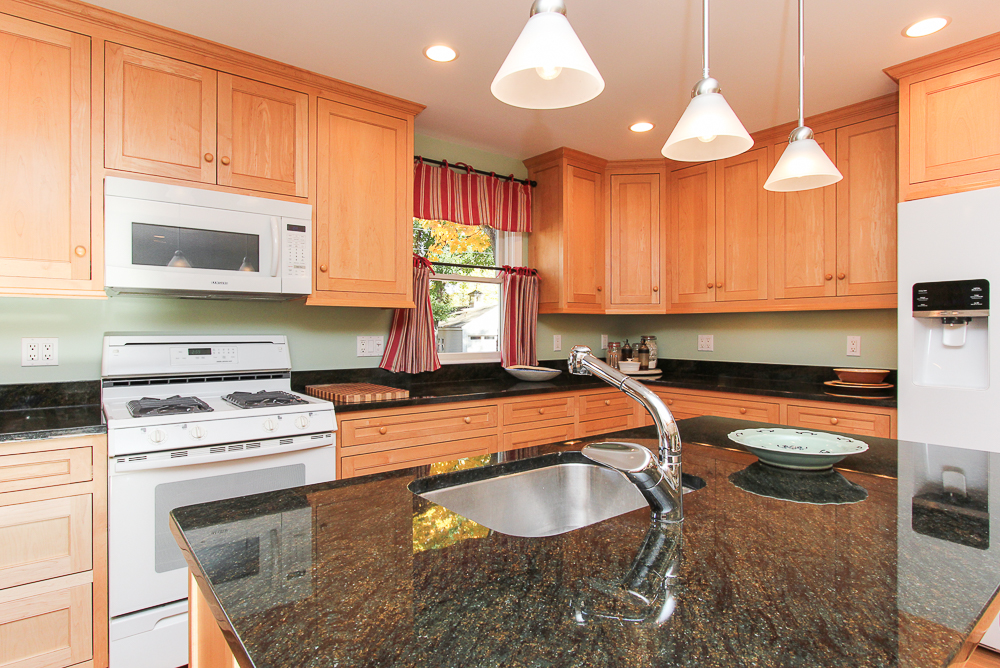 Kitchen island with granite 31 Orchard Road Hamilton Massachusetts