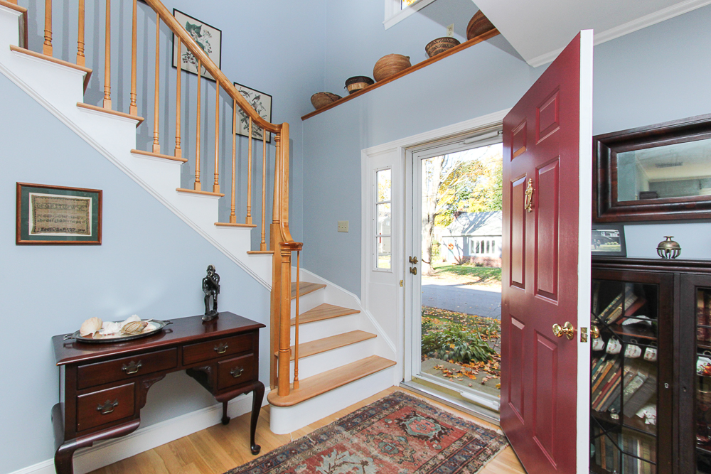 Foyer and stairway 31 Orchard Road Hamilton Massachusetts