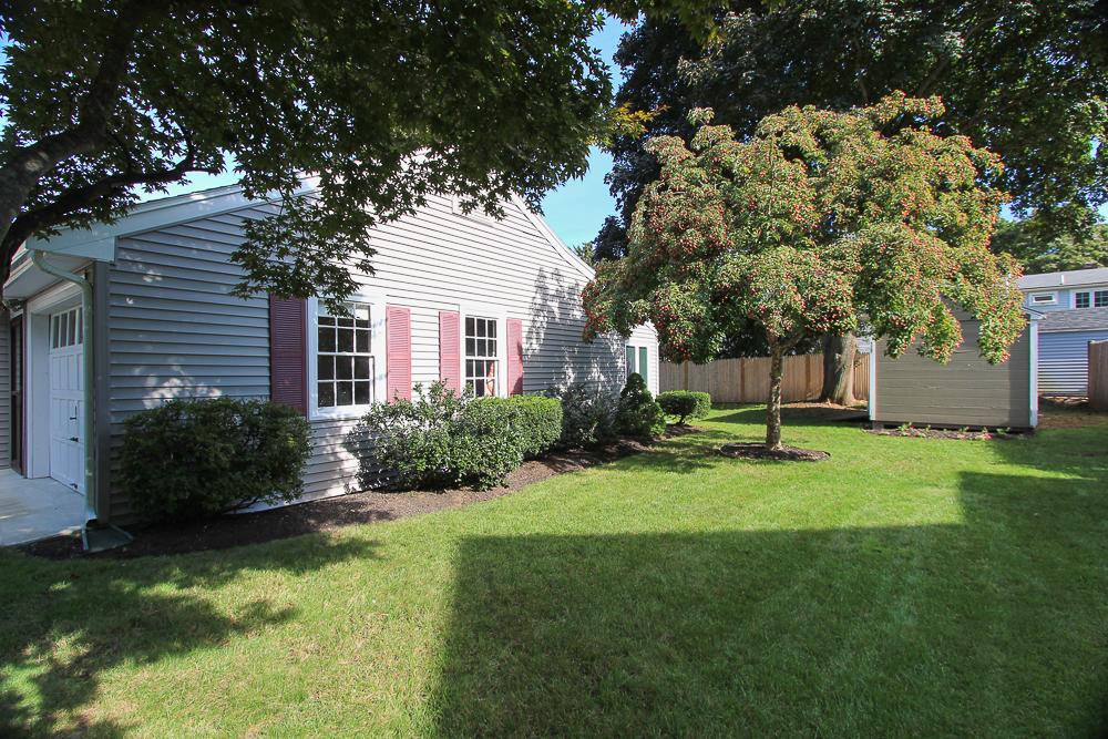 Side yard 15 Sylvan Road Beverly Massachusetts