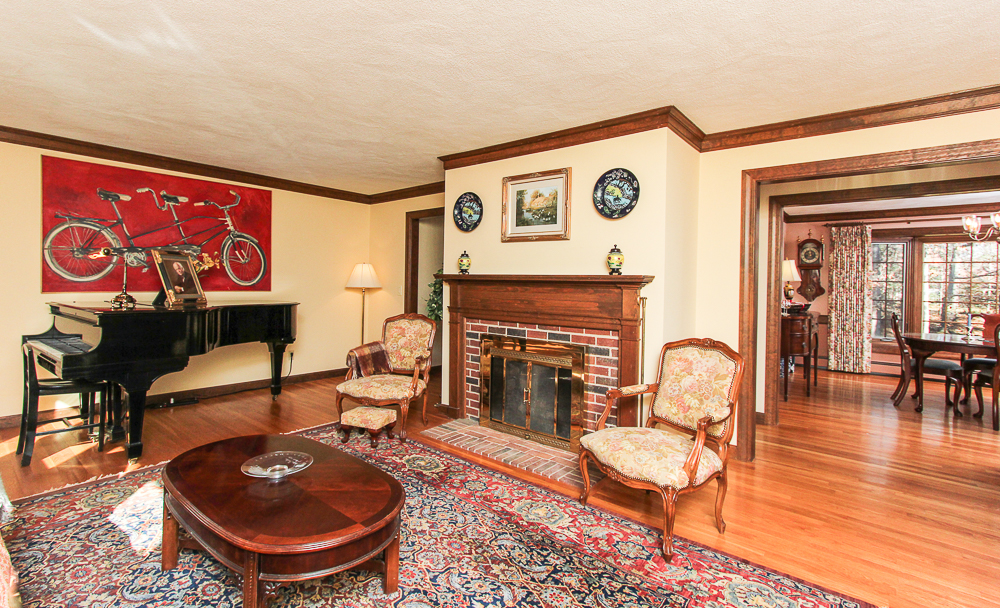 Living room with fireplace 3 Amberwood Lane Boxford Massachusetts