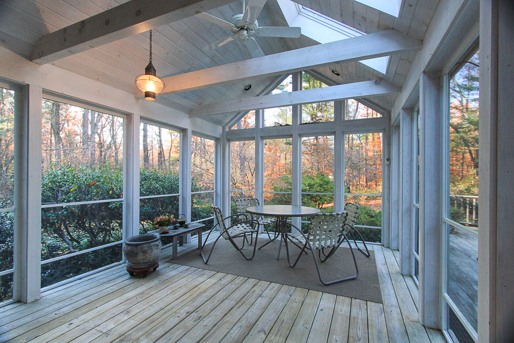 Screened porch 3 Amberwood Lane Boxford Massachusetts