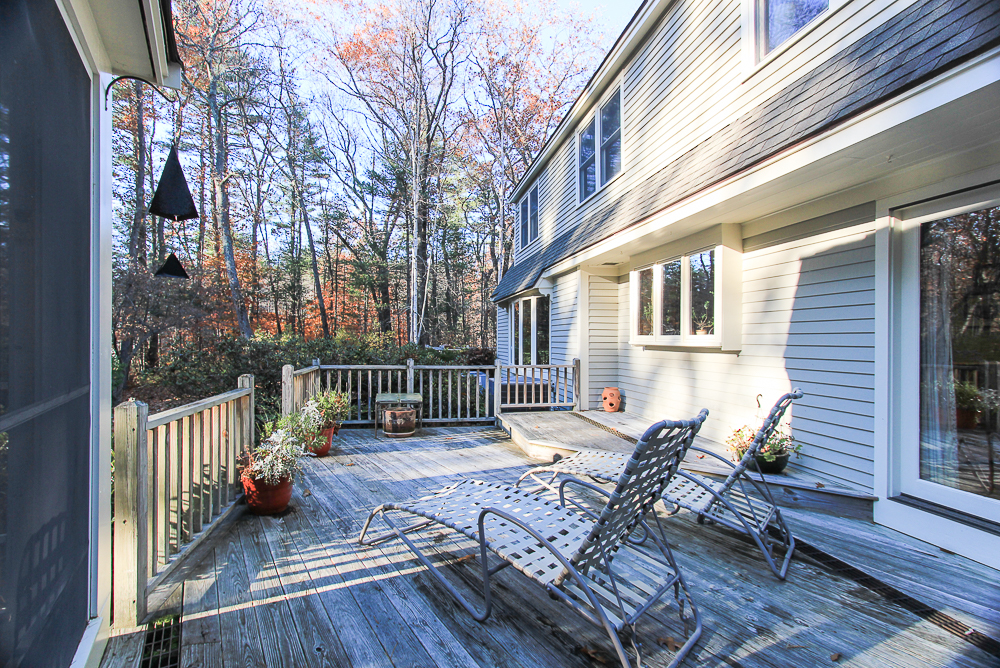 Deck between screened porch and the house 3 Amberwood Lane Boxford Massachusetts