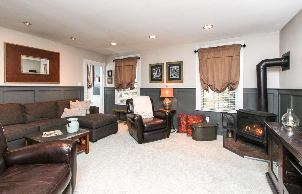 Family room with gas stove 26 Walnut Road Hamilton Massachusetts