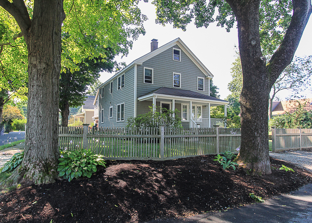 Front with fence and porch 5 Park Street Hamilton Massachusetts